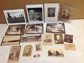 Misc Early Photos Including Henry Irving, Lincoln