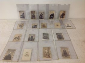 18 Civil War Cdv's-3 By Brady, Other Photographers Are