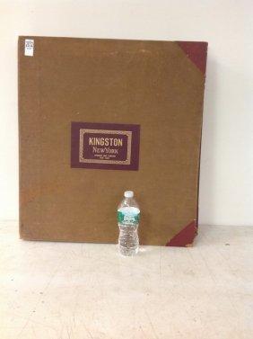 Large Format Sanborn Map Book Of Kingston Ny April 1899