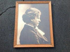 Large Albumen Of Jan Paderewski, Classical Polish