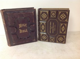 2 Bibles- (1)1885, (2)1878; 1-the Holy Bible Containing