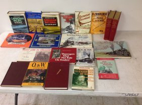 (20) Railroad Books, All Hardcover, Most With Dust