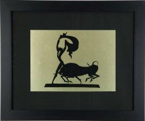 Hunt Diederich Matador And Bull Paper Cut, C. 1930,