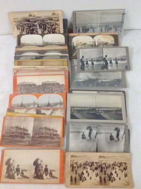 Lot Of 47 New Jersey Stereoviews, All Real Photo, As