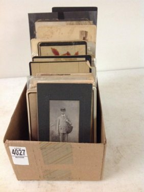 Lot Of 126 Cabinet Cards And Boudoirs Including 14