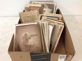 Lot Of 114 Cabinet Cards Of Actors And Actresses, A Few