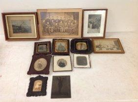 Box Of Framed Ambrotypes, Daguerreotype, Tintypes,