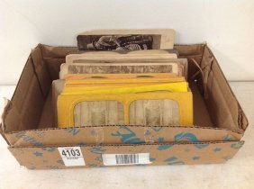 Lot Of 50 Stereoviews Including 21 Tissues, 25 Genre