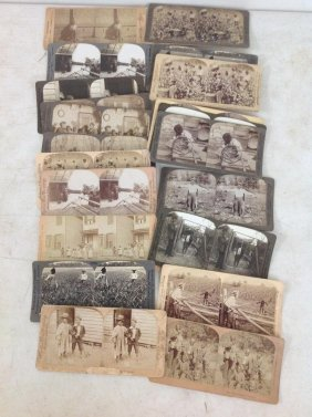 Lot Of 28 African-american Stereoviews, All Real Photo,