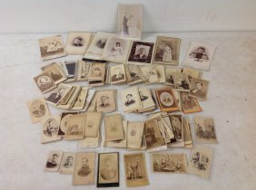 218 Cdv's & 13 Cabinet Cards Including Baseball Player