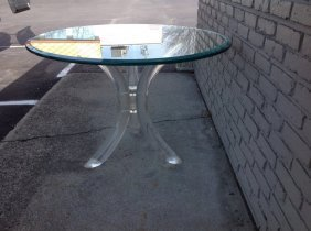 Mid Century Lucite Dining Table Milo Baughman (?), Very