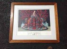 Salvador Dali Signed Les Diners De Gala Litho Of Mary