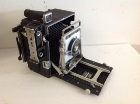 Graflex Pacemaker Camera In Leather Case, With