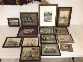 Boxlot Early Framed Sports Photographs Including Black