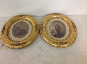 Lot Of 2 Framed Civil War Era Photographs, 1 Soldier,