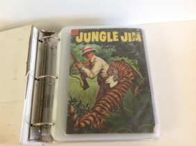 Lot Of Jungle Jim Comic Books In Album