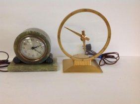 2 Deco Electric Clocks