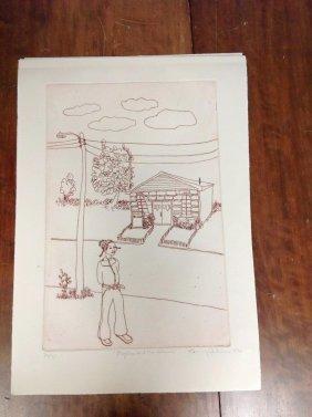 4 Benny Andrews Signed Prints