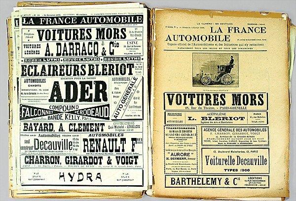 12 la france automobile 20 parts magazine 1900 edit lot 12. Black Bedroom Furniture Sets. Home Design Ideas