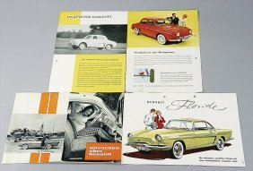 RENAULT Mixed Lot Of 8 Pieces, Sales Catalogs And B