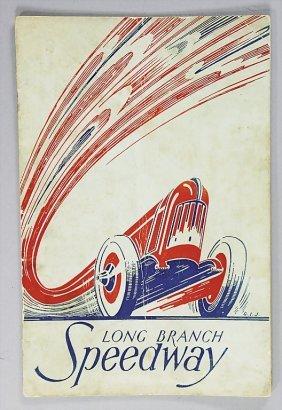 Programme Long Branch Speedway 1937   German:   Ren