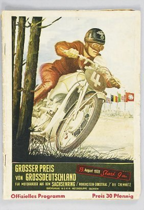 Program Grand Prix Of Germany, Sachsenring 1939, Wi