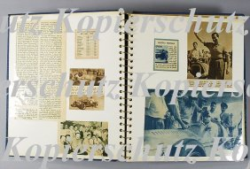 Scrapbook With Newspaper Cuttings By Fangio, Golnza