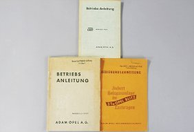 OPEL Mixed Lot Of 3 Operating Instructions, No. 1: