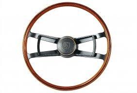 PORSCHE C. 1967, Original Porsche Wood Steering W