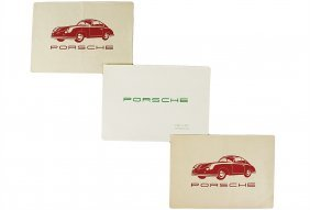 PORSCHE Mixed Lot Of 3 Pieces, 1951/1952, No. 1: