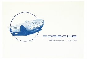 PORSCHE Germany 1954, Folder Porsche Spyder, Type