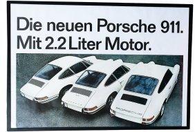 """PORSCHE 1969, Advertisement """"Die Neuen Porsche 91"""