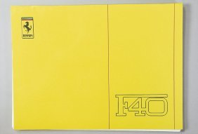 FERRARI Technical Manual F 40, From 1988, Good Co