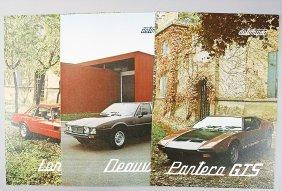DE TOMASO Brochure Type Longchamp, Type Pantera G