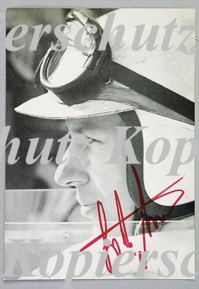 FERRARI Autograph Card Of John Surtees, Signed By