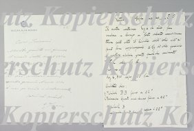 ALFA-ROMEO/ JANO Writing By Jano To Lurani, Dated