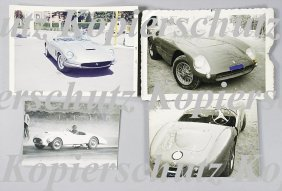 FERRARI Mixed Lot Of 4 Original B/W And Color Pho