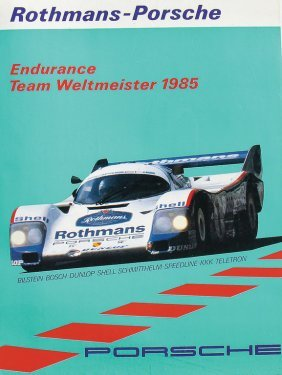 Porsche Racing Poster Rothmans-porsche Endurance Team