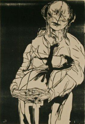 Leonard Baskin, Untitled (Pregnant Woman)