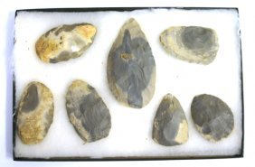 Cache Of 7 Horn Stone Blades Found In Indiana