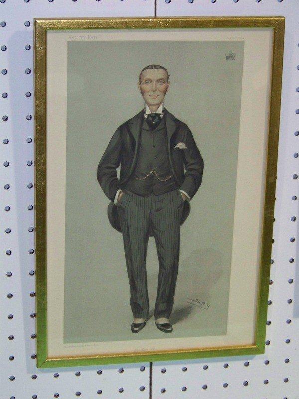 52 6 Vintage Framed Vanity Fair Spy Prints Lot 52