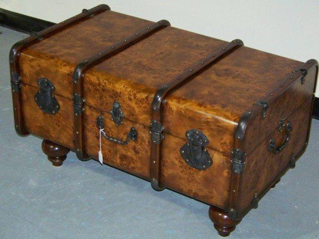 309 Theodore Alexander Burl Wood Trunk Coffee Table Lot 309