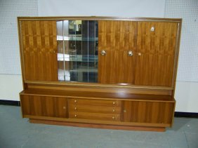 Vintage German Deco/Modern Display Cabinet