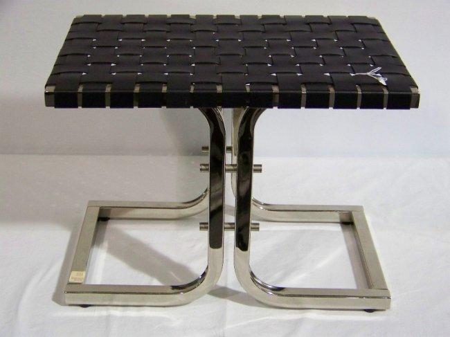 250 modern leather chrome vanity bench stool lot 250