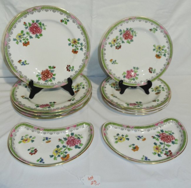 10 Pcs.of Early Spode Porcelain China, T.Goode & Co. : Lot 23