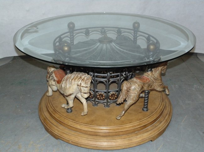 Horse Carousel Coffee Table