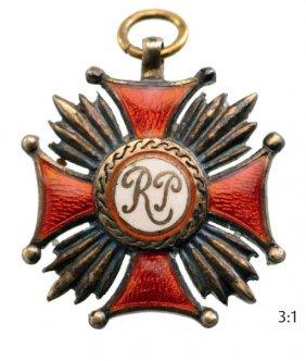 Gold Merit Cross Of The Republic Of Poland 1st Class