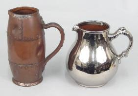 Doulton Lambeth Silicon Jug And Burslem Silver Lustre