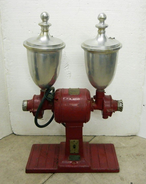 472 Vintage Hobart Electric Double Coffee Grinder With