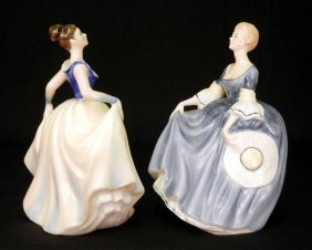 "Two Royal Doulton Figurines, ""Hilary"" HN 2335, 7"","
